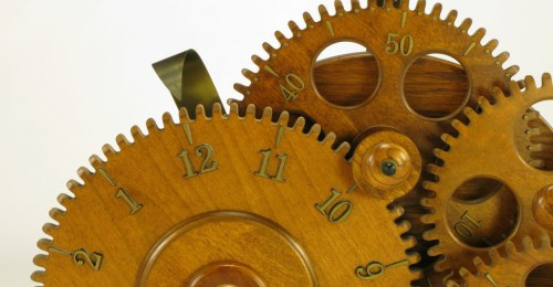 Brass and Carved Wood Gears